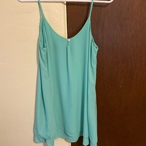 Teal Slip Dress